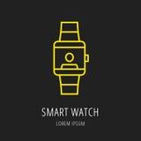 Vecteur Logo Template Smart Watch simple Photo libre de droits