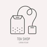 Vecteur Logo Template Tea Shop simple Photos stock