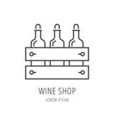Vecteur Logo Template Wine Shop simple Photos stock