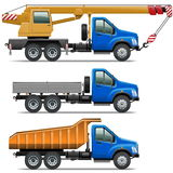 Vecteur Lorry Icons Set 3 Image libre de droits