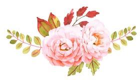 vecteur lumineux d'illustration de fleur de bouquet Composition décorative pour épouser l'invitation Images stock