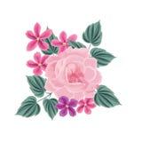 vecteur lumineux d'illustration de fleur de bouquet Trame florale Carte de voeux de Flourish Photo libre de droits