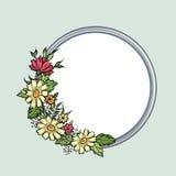 vecteur lumineux d'illustration de fleur de bouquet Trame florale Carte de voeux de Flourish F de floraison Photos libres de droits