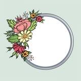 vecteur lumineux d'illustration de fleur de bouquet Trame florale Carte de voeux de Flourish F de floraison Image stock