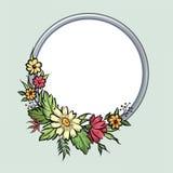 vecteur lumineux d'illustration de fleur de bouquet Trame florale Carte de voeux de Flourish F de floraison Photographie stock