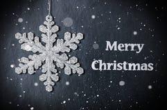 vecteur lumineux de flocon de neige de conception de Noël Image stock