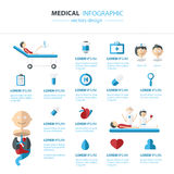 Vecteur médical et concept d'Infographics de santé Photos stock