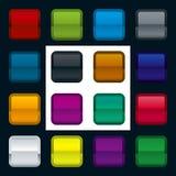 vecteur métallique de bouton Image libre de droits