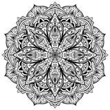Vecteur, mandala gracieux et noir illustration libre de droits