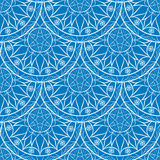 Vecteur Mandala Pattern florale bleue sans couture Photo libre de droits