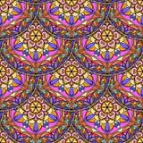 Vecteur Mandala Pattern florale rose sans couture Photographie stock libre de droits