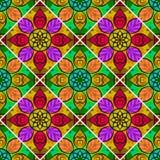Vecteur Mandala Pattern florale sans couture Photos stock