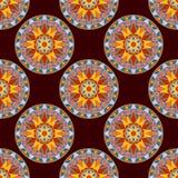 Vecteur Mandala Pattern florale sans couture Photo stock