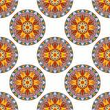 Vecteur Mandala Pattern florale sans couture Photo libre de droits