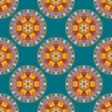 Vecteur Mandala Pattern florale sans couture Photographie stock