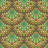 Vecteur Mandala Pattern florale sans couture Images libres de droits