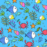 Vecteur Marine Seamless Pattern illustration libre de droits