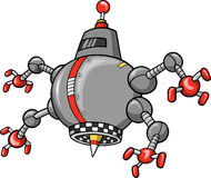 vecteur mauvais de robot Images stock