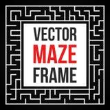 Vecteur Maze Frame Vintage Maze Border Photos stock