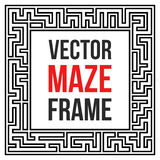 Vecteur Maze Frame Vintage Maze Border Photo stock