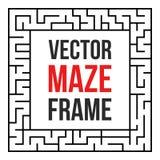 Vecteur Maze Frame Vintage Maze Border Images libres de droits