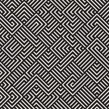Vecteur Maze Lines Geometric Pattern irrégulier sans couture Photos libres de droits