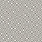 Vecteur Maze Lines Pattern noir et blanc sans couture Photographie stock libre de droits