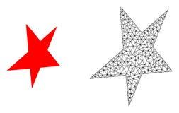Vecteur Mesh Asymmetrical Star polygonal et icône plate illustration libre de droits