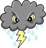 Vecteur mesquin de nuage de tonnerre Photo libre de droits