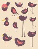 Vecteur mignon d'oiseaux Photo libre de droits