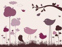 Vecteur mignon d'oiseaux Photos stock