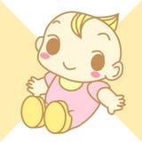 Vecteur mignon de bande dessinée de bébé Photo stock