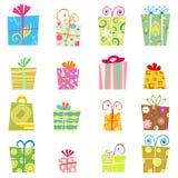 Vecteur mignon de cadre de cadeau Photos libres de droits