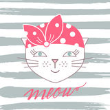 Vecteur mignon de chat Photos stock