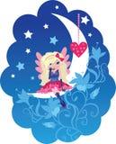 Vecteur mignon de dessin animé d'ange d'amour illustration stock