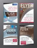 Vecteur moderne CMYK A4 moderne de brochure de polygone Image stock