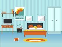 Vecteur moderne d'intérieur de chambre à coucher Photographie stock