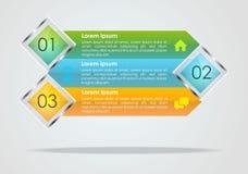 Vecteur moderne de calibre d'options d'infographics avec bleu, vert et Images stock