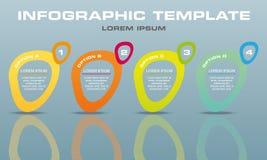Vecteur moderne de calibre d'options d'infographics avec l'elipse coloré Images stock