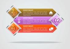 Vecteur moderne de calibre d'options d'infographics avec le brun, violette a Photo libre de droits