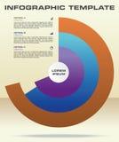 Vecteur moderne de calibre d'options d'infographics avec le cercle coloré Photographie stock libre de droits