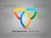 Vecteur moderne de calibre d'options d'infographics avec le triang coloré Photo libre de droits