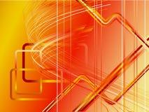 Vecteur moderne futuriste rouge illustration de vecteur