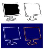 Vecteur - moniteur d'affichage à cristaux liquides Image libre de droits