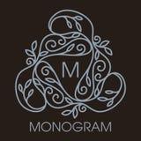 Vecteur monochrome de luxe, simple et élégant Images libres de droits