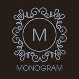 Vecteur monochrome de luxe, simple et élégant Image stock
