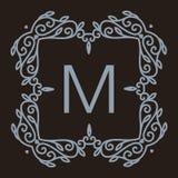 Vecteur monochrome de luxe, simple et élégant Image libre de droits