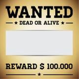Vecteur mort ou vivant voulu de descripteur Photos stock