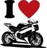 Vecteur Motorheart Plus d'amour de symboles de motorbikers de vecteur illustration stock