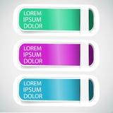 Vecteur multicolore Tab Banner Elements Photographie stock libre de droits